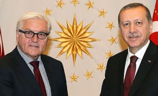 Erdoğan, Almanya Cumhurbaşkanı Steinmeier'le görüştü