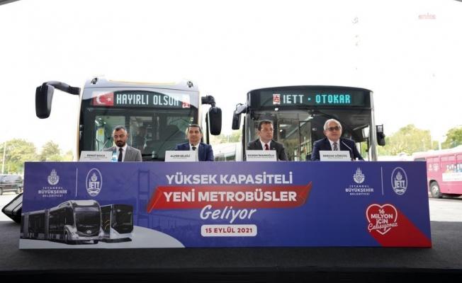 İBB'nin Metrobüs Filosuna 160 Araç İçin İmzalar Atıldı