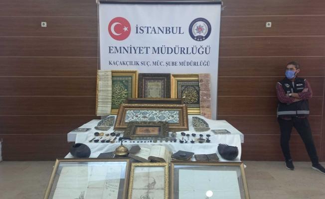 İstanbul'da 88 Parça Tarihi Eser Ele Geçirildi