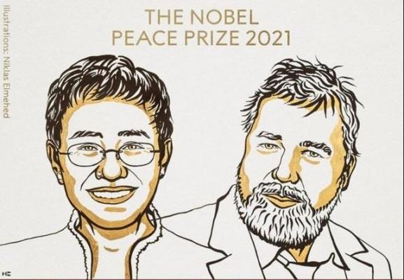 2021 Nobel Barış Ödülü'nü gazeteciler Maria Ressa ve Dmitry Muratov kazandı