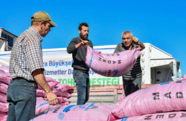 Ankara Büyükşehir'den Türkiye'nin Bu Yılki En Büyük Arpa ve Buğday Tohumu Desteği