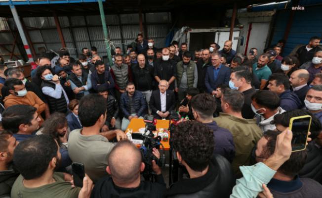 CHP Lideri Kılıçdaroğlu, Atık Kağıt Toplayan İşçileri Ziyaret Etti