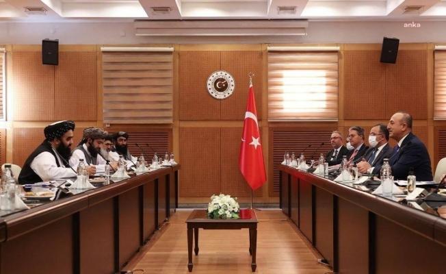 Dışişleri Bakanı Çavuşoğlu, Taliban heyeti ile bir araya geldi
