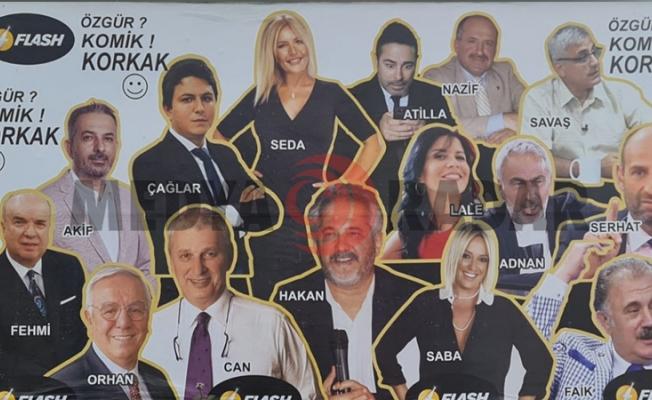Flash TV'nin yeni dönemi için hazırlanan afişte yer alan iki isim, kanalla anlaşamadı
