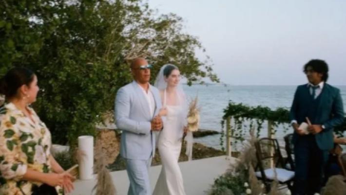 Hayatını kaybeden Paul Walker'ın kızı, düğününde Vin Diesel ile yürüdü