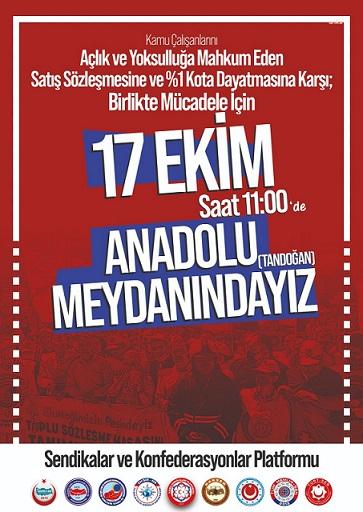Kamu Çalışanları Pazar Günü Ankara'da Toplanıyor