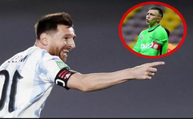 Lionel Messi, Muslera'ya şut çekmeden gol attı