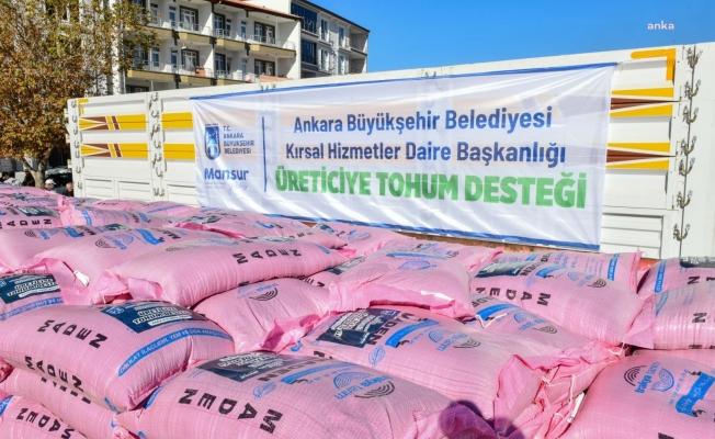 Mansur Yavaş: Türkiye'nin 2021 yılındaki en büyük tohum dağıtımı programına başladık