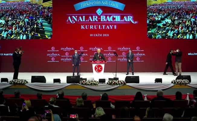 """MHP Genel Başkanı Bahçeli: """"Kadınların katline seyirci kalamayız"""""""