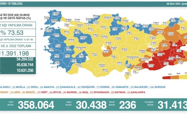Türkiye'de koronavirüsten 236 kişi daha hayatını kaybetti
