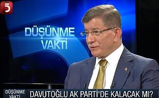 Davutoğlu'ndan 'yeni parti' açıklaması: Yeni bir yol oraya yönelir