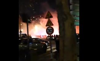 Paris Saint Germain Galatasaray maçı öncesi sarı kırmızılı taraftarlara saldırı!