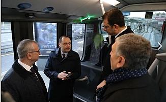 İmamoğlu Yeni Nesil Metrobüs Araçlarını Test Etti!