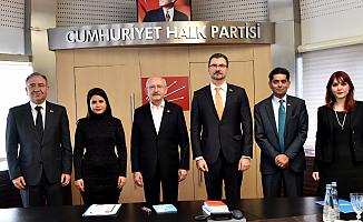 Kılıçdaroğlu, Dünya Sağlık Örgütü Heyetini Kabul Etti