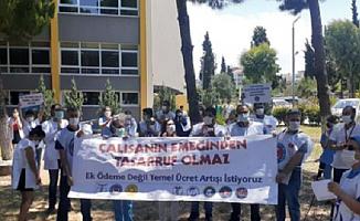 DEÜ Hastanesi Sağlık Çalışanları Hakları İçin Seslerini Yükseltti