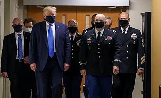 Trump, Koronavirüs salgınının başından beri ilk kez maskeyle görüldü