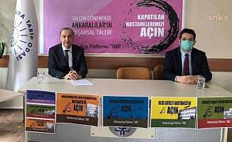 Ankara'da Geçen Yıl Kapatılan Hastanelerin Açılması İçin 112 Kuruluştan Ortak Çağrı!