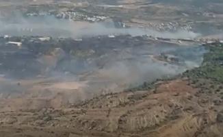 Hatay'da Çıkan Yangına Müdahale Sürüyor