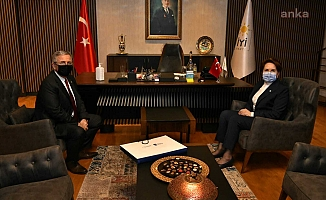 Mansur Yavaş'tan Meral Akşener'e nezaket ziyareti