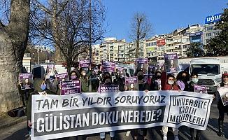 1 yıldır kayıp olan Gülistan Doku için Beşiktaş Meydanı'nda eylem