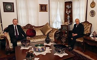 Cumhurbaşkanı Erdoğan, Bahçeli ile Evinde Görüştü