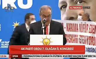 AKP Kongresinde Pankartlı Eylem