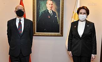 Akşener, Birleşik Krallık Büyükelçisi Dominick Chilcott ile görüştü