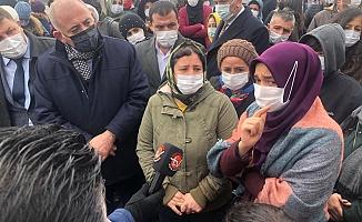 Riskli alan ilan edilip evlerinden çıkarılmak istenen vatandaşlar isyan etti
