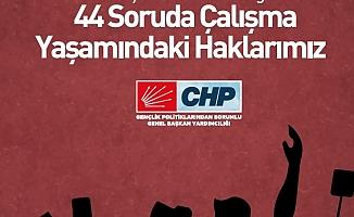 CHP'den Gençler İçin ''44 Soruda Çalışma Yaşamındaki Haklarımız'' Raporu