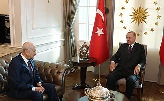 Erdoğan ile Bahçeli Çankaya Köşkü'nde görüştü