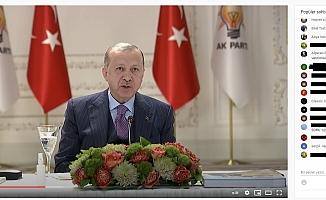 """Erdoğan'ın, gençlerle canlı yayınına """"128"""" tepkileri geldi"""