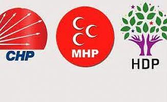 CHP 16, MHP 6, HDP 4 parti ile bayramlaşacak