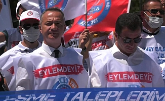 """Memurlar Ankara'da eylemde: """"Nasıl gerçek enflasyona yetişebilirim?"""""""