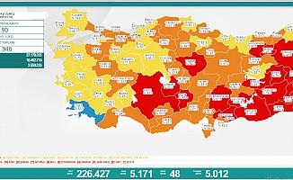 Türkiye'de koronavirüsten 48 kişi daha hayatını kaybetti