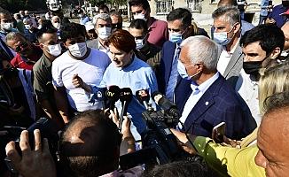 """Akşener'in Bozkurt'ta dinlediği sel mağduru: """"Kişi beyan etmiş 70 bin lira, '40 bin lira verelim' diyorlar"""""""