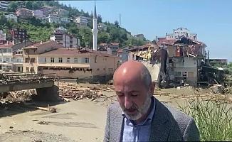 """CHP'li Öztunç Abana'da: """"Köprüler, evler yıkılmış. Bir an evvel buraya da gelin artık"""""""