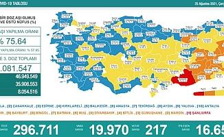 Türkiye'de koronavirüsten 217 kişi daha hayatını kaybetti