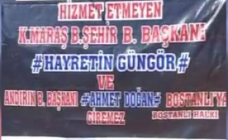 Kahramanmaraşlılardan ''Hizmet Etmeyen Belediye Başkanı Giremez'' Tepkisi