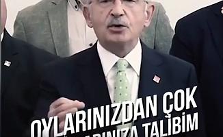 Kılıçdaroğlu; ''Sizin Oylarınızdan Çok Sorunlarınıza Talibim''