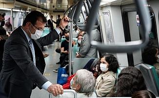 İmamoğlu, Taksim'e metroyla gitti