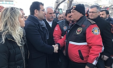 İBB Başkanı Ekrem İmamoğlu, Elazığ'da deprem bölgesine gitti